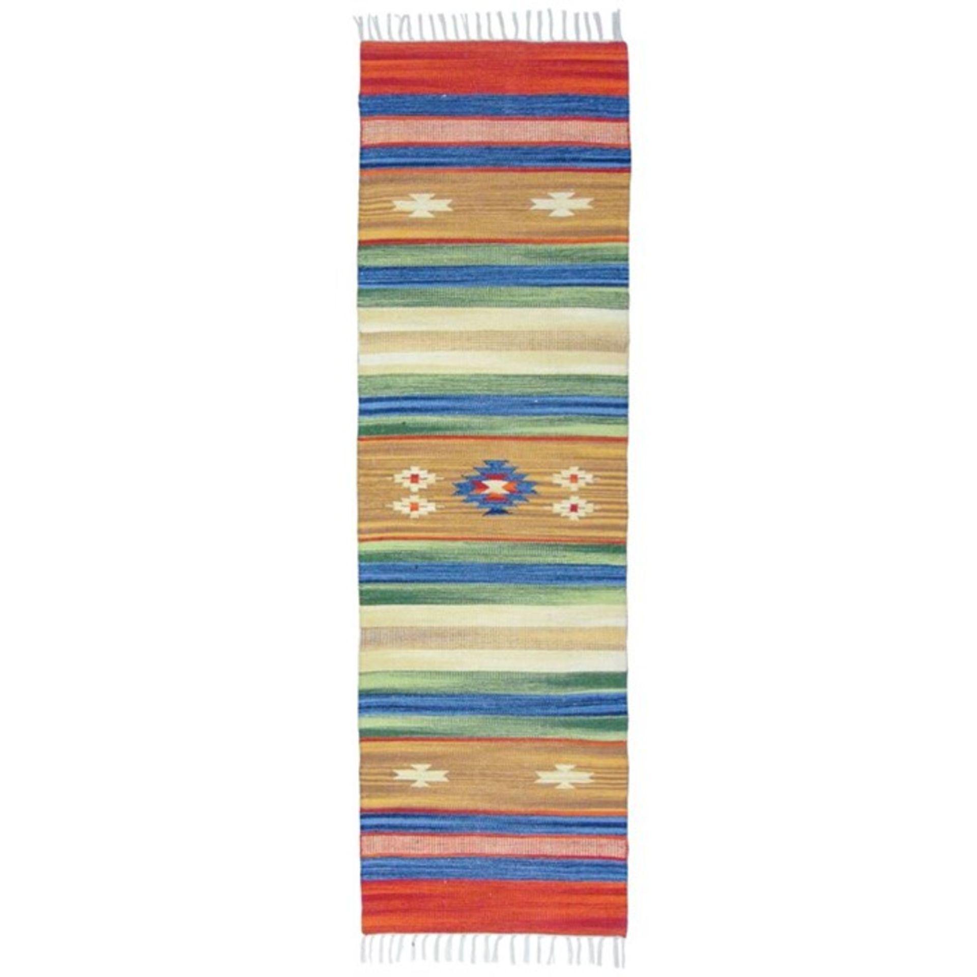 Bakero,Country Handwoven Cotton Brown Rug - RRP £25.99 (BAKR3762 -17633/19)