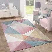 Norden Home Galloway Pink/Blue Rug (120x170cm)(ALAS6681 - 16851/43)