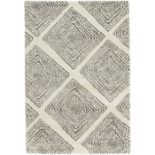 Mint Rugs,Allure Grey/Cream Rug - RRP £115.99 (120x170cm)(MIRU1109 -17633/24)