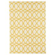 Home Loft Concept,Yellow/Ivory Indoor/Outdoor Area Rug - RRP £106.99 (160x230cm) (FLTA1024 -17633/