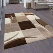 17 Stories Dougy Brown/Cream/Ivory Rug 960x110cm)(ALAS6259 - 16851/14)