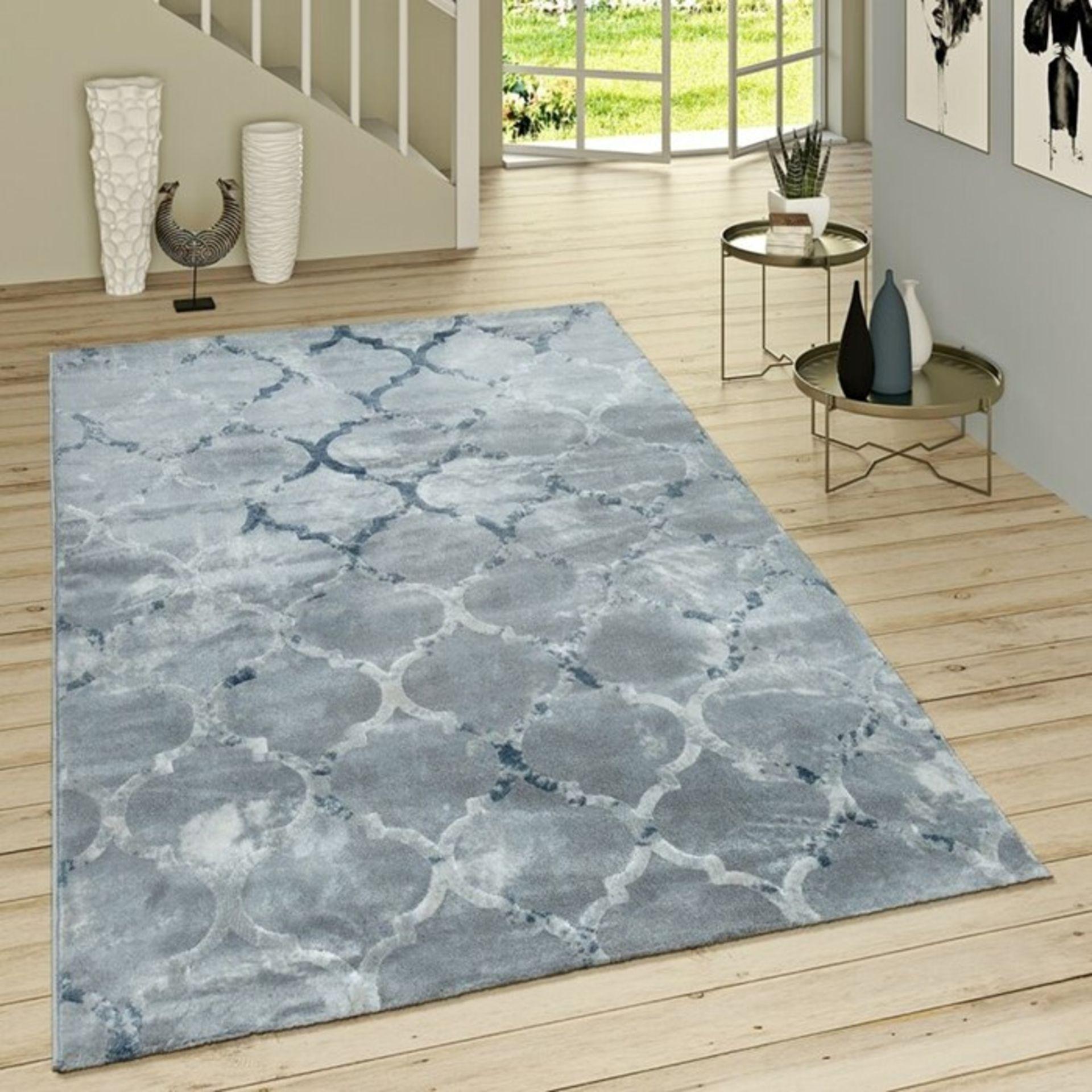 Longweave,Deeter Flatweave Blue Rug - RRP £38.99 (120x170cm) (ALAS6487 -17633/14)