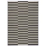 Hanse Home, Panel Rug in Black/Cream Panel Rug in Black/Cream Panel Rug in Black/Cream Panel Rug