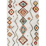 Latitude Vive,Beausejour High Pile Moroccan Diamond Cream Rug - RRP £58.99 (BUNR1386 -17633/10)