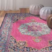 World Menagerie Ollert Pink/Blue Rug (U000903007 - 16851/13)