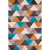 Mercury Row,Mora Ochre/Teal Rug - RRP £37.99 (80x150cm) (QWG2051 -16899/22)