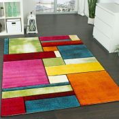 17 Stories,Edith Green/Blue/Orange Rug - RRP £101.99 (ALAS6468 -17633/3)