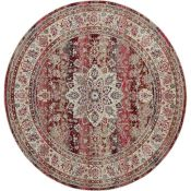 World Menagerie Holsworthy Red Rug round (120x120cm)(LOWV2841 - 16851/24)