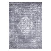 Williston Forge,Alexia Grey/Silver Rug - RRP £31.99 (120x170cm) (WLFG1975 -17633/22)