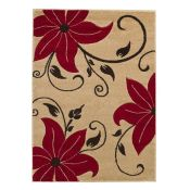 Mercury Row Mancuso Tan/Red Area Rug (120x170cm) (ANDM1829 - 16851/23)