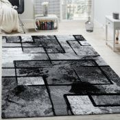 Borough Wharf,Alaya Black/Grey Rug - RRP £36.99 (120x170cm) (ALAS6856 -17633/7)