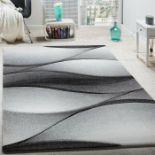 Metro Lane,Adamo Grey-Anthracite Rug - RRP £15.99 (80x150cm) (ALAS6886 -16899/19)