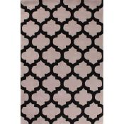 Canora Grey,Candleick Hand Tufted 100% Wool Beige/Black Rug - RRP £106.99 (160x230cm) (QWG10013 -