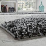 17 Stories,Valensi Shag Grey/Black Rug - RRP £53.99 (160x220cm)(ALAS6597 -16899/29)