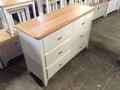 Gloucester White Painted Oak 6 Drawer Chest (F95 - -GA-6DC-W)