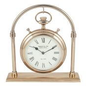 Ophelia & Co., Modern & Contemporary Metal Tabletop Clock Colour: Antique Brass - RRP £68.99 (