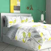 17 Stories, Allium Duvet Cover Set Size: Single, Colour: Green/Grey - RRP £14.99 (KEY1062.17447129 -
