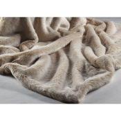 Union Rustic, Gerner Faux Fur Throw Size: 140 x 180cm - RRP £144.99 (BI907100.47930749 - H17228 -