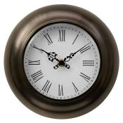 Symple Stuff, 20cm Wall Clock - RRP £11.99 (PRH5862.6433913 - H17228 - 11/45) 8F