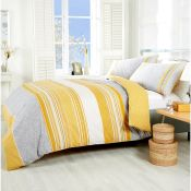 Latitude Vive, Duvet Cover Set Colour: Ochre, Size: Kingsize - 2 Standard Pillowcases - RRP £20.