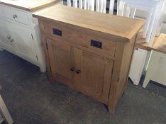Rustic Oak 2 Door Small Sideboard (DAMAGE-back right corner) (F96 - -NC-SMS-OAK)