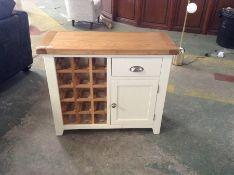 Hampshire Ivory Painted Oak Small Sideboard Wine Rack(DAMAGED) (KEL P54-E36)