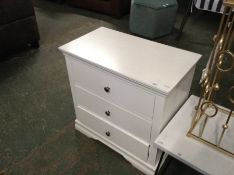 Florence White Painted 3 Drawer Chest (CH41C-SW-3D