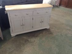 Ashbourne Grey Painted 4 Door Extra Large Sideboard (DAMAGE-front joints) (BRI-BF04-E37)