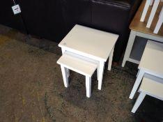 WHITE NEST OF 2 TABLES