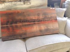East Urban Home,'Serenity' by East Urban Home Framed Graphic Art Print on Wrapped Canvas RRP -£117.