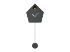   x1   Lark Cuckoo & Pendulum Wall Clock, Charcoal Grey  RRP £85   MAD-CLKLAR001GRY-UK   (W40-41-5)