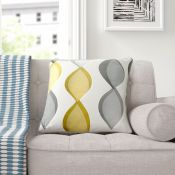 17 Stories, Delrio 100% Cotton Cushion Cover X4 (GREY/PURPLE/GREEN) - RRP £6.14 ( EANS1014 - 13566/