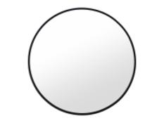   x1   MADE Essentials Bex Large Round Mirror 76cm, Black  RRP £99   MAD-MIRBEX011BLA-UK   (W40-41-