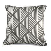 17 Stories, Delrosario 100% Cotton Cushion Cover X2 (GREY) - RRP £6.67 (EANS1012 - 13566/4 - 13566/