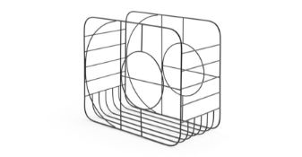   x1   Carrie Metal Magazine Holder, Black  RRP £20   MAD-STOCAR002BLK-UK   (W40-41-24) 1A