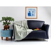 Mercury Row, Sclafani Cotton Jacquard Throw (GREEN) - RRP £36.99 (CTOL1070 - 13566/62) 2D