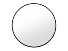  x1   MADE Essentials Bex Round Lacquered Mirror 55cm, Black  RRP £59   MAD-MIRBEX001BLK-UK   (