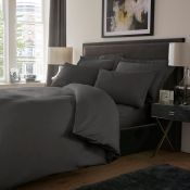 Marlow Home Co., Dull 800 TC Duvet Cover Set (SUPERKING)(CHARCOAL GREY) - RRP £28.99 (EXDL1000 -