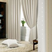 Marlow Home Co., Keaton Madison Pencil Pleat Room Darkening Curtains (CREAM)(168X229CM) - RRP £46.01