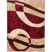 17 Stories,Taurean Red Rug RRP -£64.99 (19402/14 -LOWV1759)