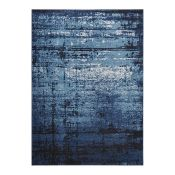Well Woven,Sydney Vintage Distressed Crosby Blue Rug RRP -£70.99 (80x365) (12294/31 -WEWO1031)