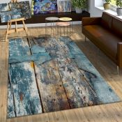 Borough Wharf,Ryan Turquoise/Grey Rug RRP -£119.99 (120x170) (19402/5 -ALAS6450)