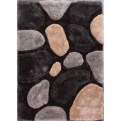 Alpen Home,Ryann Hand Tufted Grey Rug RRP -£63.99 (80x150) (19402/30 -QWG10059)