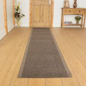 Brambly Cottage,Flatweave Light Brown Rug RRP -£33.99 (19402/20 -RNGU1018)