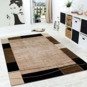 17 Stories,Inklen Brown/Beige Rug RRP -£74.99(160x220) (19402/13 -ALAS6653)