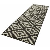 Hanse Home,Basic Black Rug RRP -£63.99 (80x300) (19402/29 -HEHM1571)