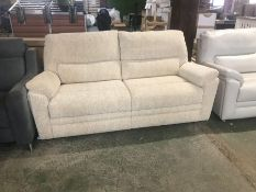 CREAM PATTERNED HIGH BACK 3 SEATER SOFA (TROO2059
