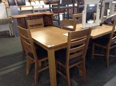 Sherwood Oak Large Fixed Top Table & Chairs (SHE-L