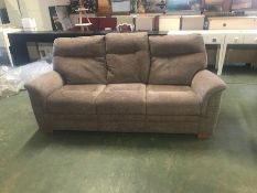 PURPLE PATTERNED HIGH BACK 3 SEATER SOFA (TR002057