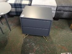 | x1 | Elona Bedside Table, Charcoal and Brass| RR